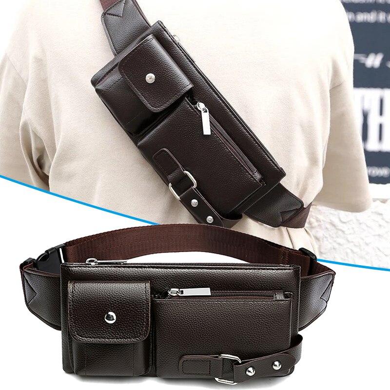 Waist Messenger Bag Multifunctional Casual  Bag Portable Shoulder Bag For Travel Motorcycle FS99