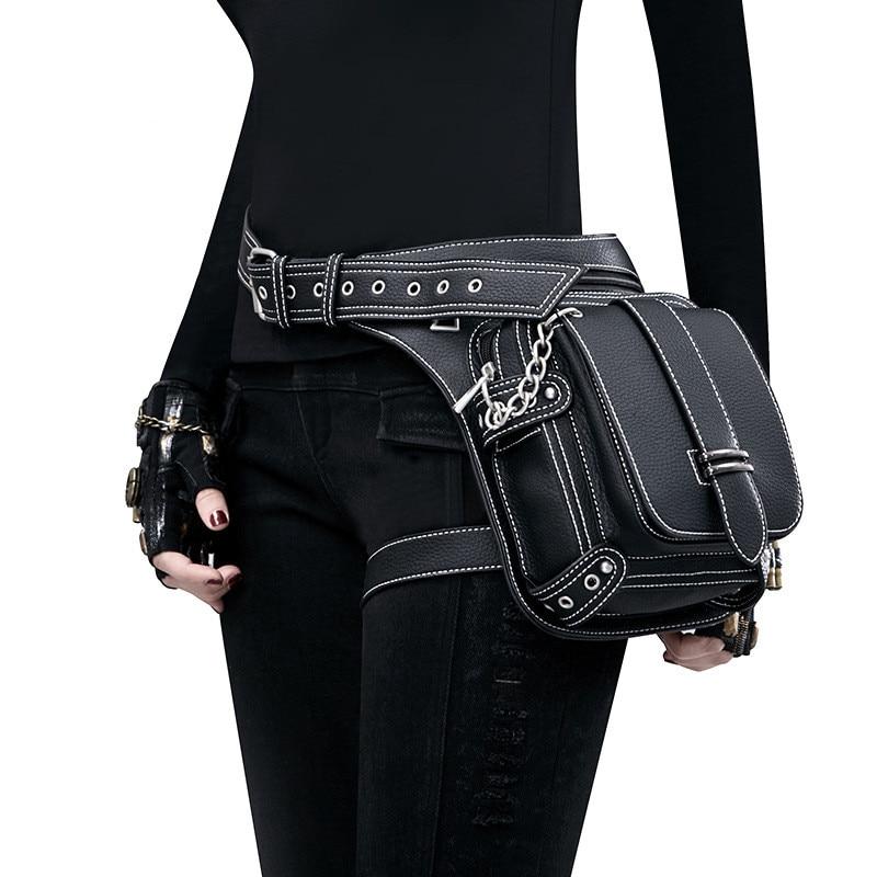 Vintage Steampunk Bag Retro Rock Gothic Retro Bag Goth Shoulder Waist Bags Packs Victorian Style Women Men Leg Bag