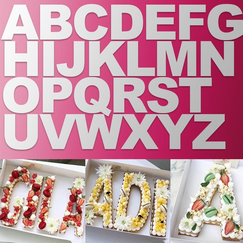 PET Alphabet Cake Molds 1Set Cookie Decorating Baking Pastry Mould Food Grade DIY Birthday Cake dessert tools