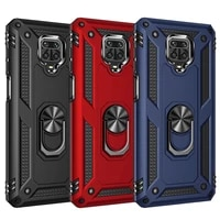 shockproof armor magnetic metal case for xiaomi redmi note 9 8t 9c 8 7 9s 10 11 poco x3 nfc 11i m3 9a 7a k40 9t pro ring cover