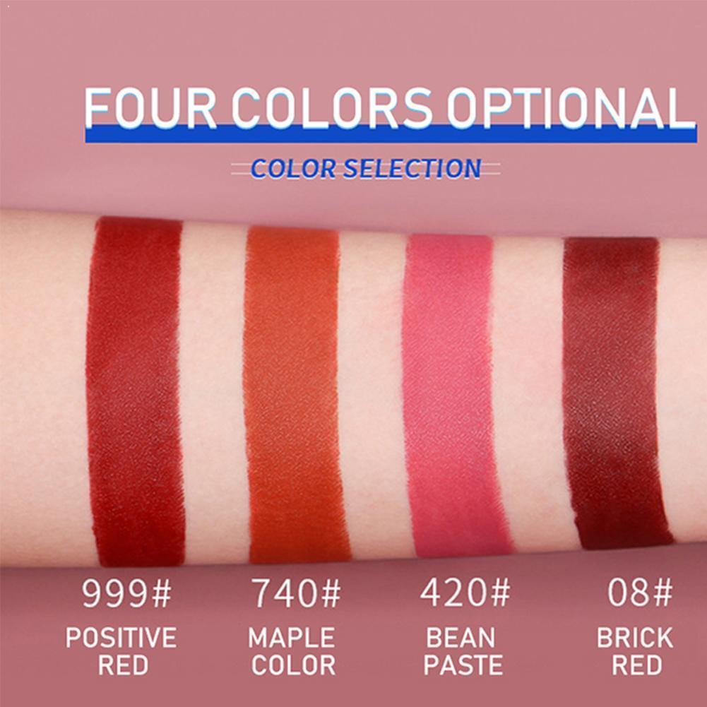 Matowy błyszczyk do ust nie blaknący wodoodporny zestaw do tytoniu dla kobiet długotrwały kolor ust pomadka do makijażu łatwy kolor do naturalnego L0V2