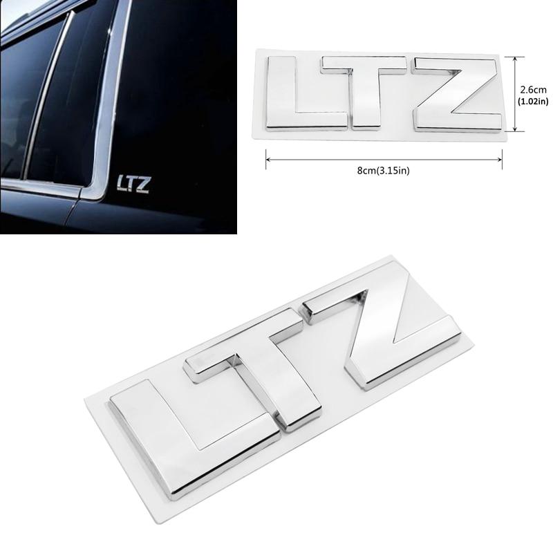 Pegatina de carrocería para LTZ Logo emblema de maletero placa de Metal Decoración Para Chevrolet Trax Aveo Cruze Orlando Captiva Sail Malibu