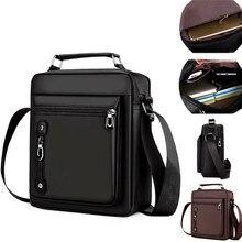 Men's Handbag Messenger Bag Waterproof Men Oxford Zipper Bag Crossbody for Male Male Business Casual