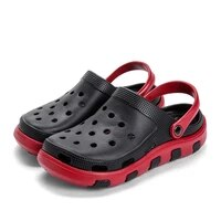 mens crolkk slippers hole shoes sandals summer new breathable for beach home hollow out casual outdoor water mules flats croc