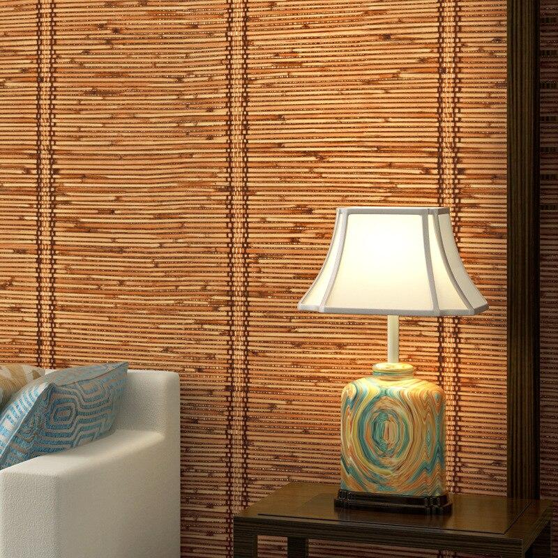 ورق حائط ثلاثي الأبعاد على الطريقة اليابانية ، نمط حصير ياباني ، غرفة نوم دراسة ، منزل شاي على الطراز الصيني ، محاكاة خلفية من الخيزران
