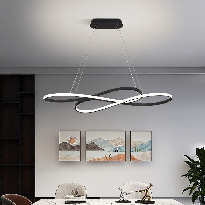 Home Lights Modern Led Hanging Chandelier For Living room Dining room kitchen bar Indoor Lighting Led Chandelier Gold black Lamp