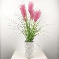 90cm5 flower artificial rare plants plastic reed grass bunch pink wedding flower fake onion grass home hotel office decor