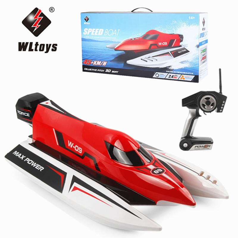 WLtoys WL915 RC Boat 2.4Ghz 2CH F1 45km/h Brushless High Speed Racing Model Speedboat Kids Gifts Toys With Battery