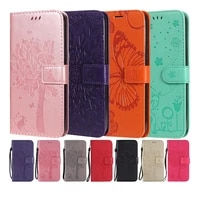 flip leather phone case for moto g 5g plus one 5g g9 power g9 plus e7 e7plus wallet card holder stand book cover cat coque capa