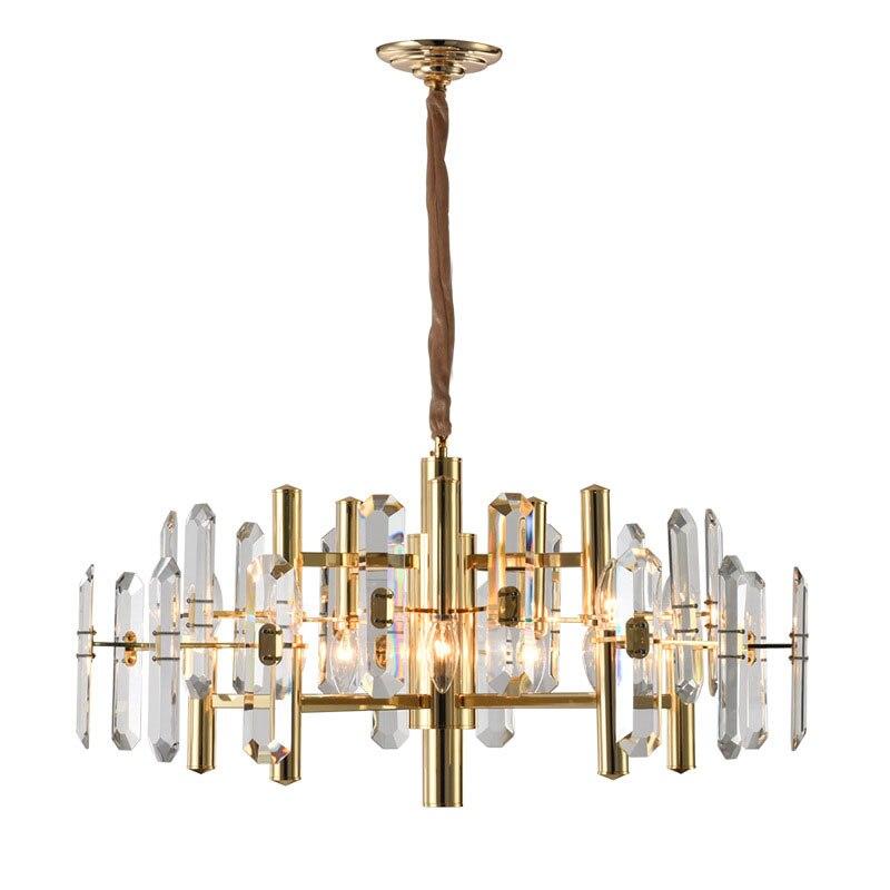 Candelabros candelabro de cristal moderno dorado iluminación sala comedor lámpara colgante LED lámparas de decoración del hogar de lujo