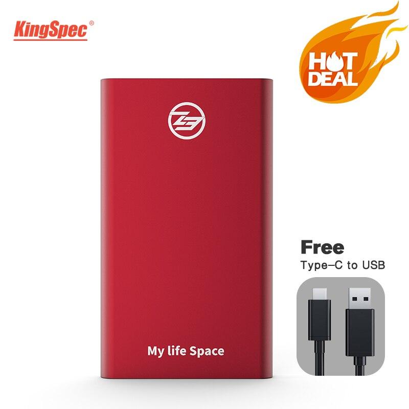 Внешний SSD KingSpec, 64 ГБ 128 ГБ 256 ГБ 512 ГБ, USB 3,1 type-c, портативный SSD HD внешний 1 ТБ с интерфейсом USB3.1 Gen1, опт