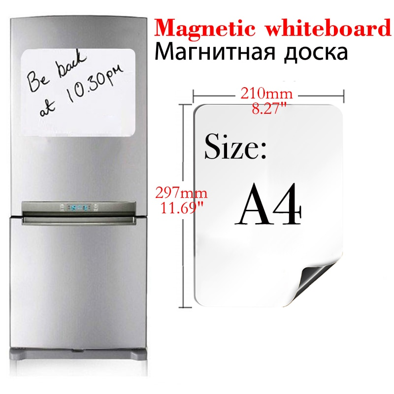 A4 Размеры магнитно-маркерная доска со стирающейся от маркера белый Панели наклейки на холодильник магниты на холодильник плана Дом Офис Ку...