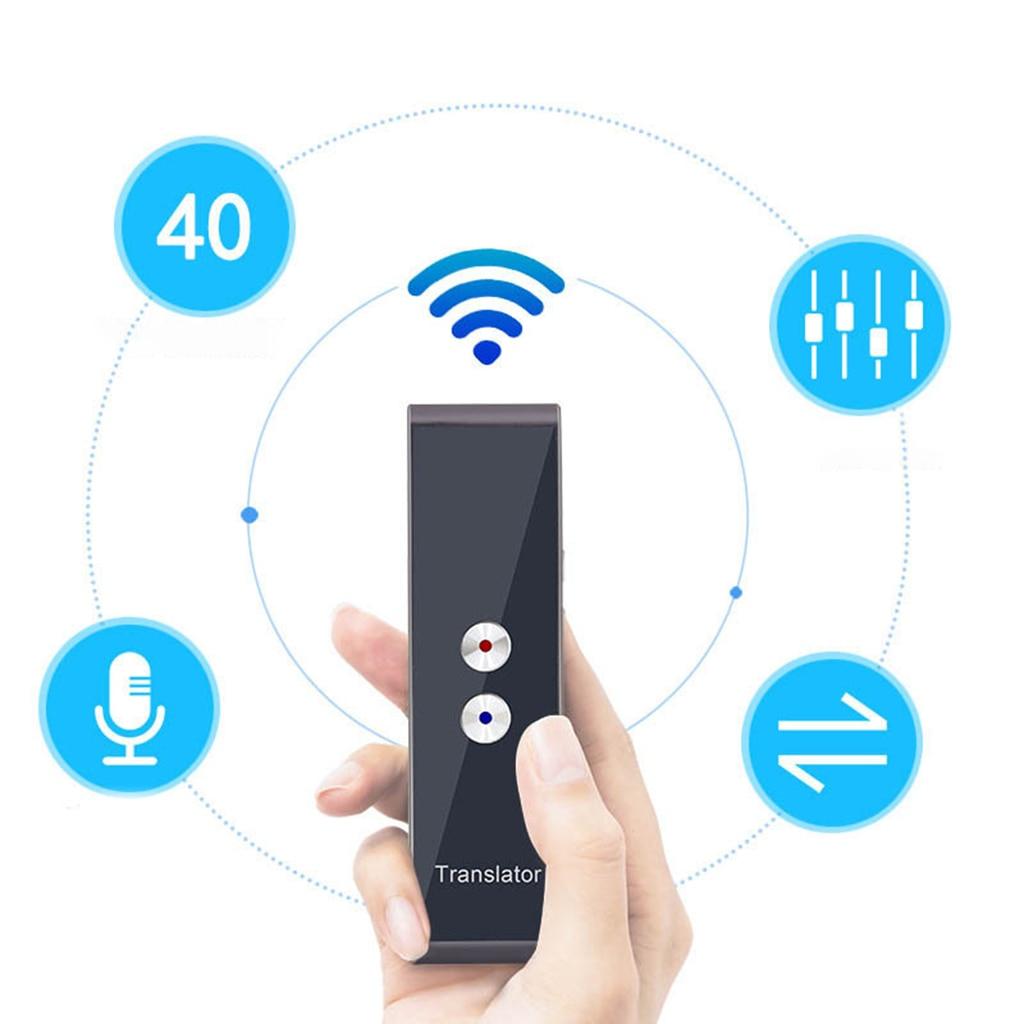 Portable T8 Smart Voice Speech Translator Two-Way Real Time Translation 30 Multi-language translation For Learning Travelling enlarge