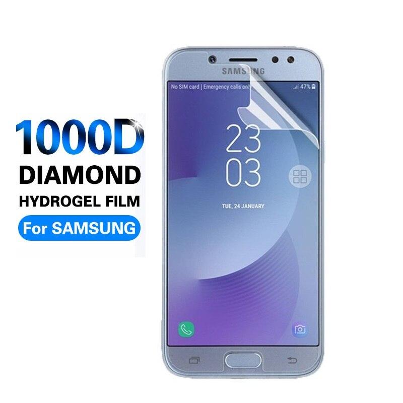 1000D, Protector de teléfono móvil para Samsung Galaxy J5 J7 2017, película HD de hidrogel para Samsung J7 J5 J3 2016 en Protector de pantalla