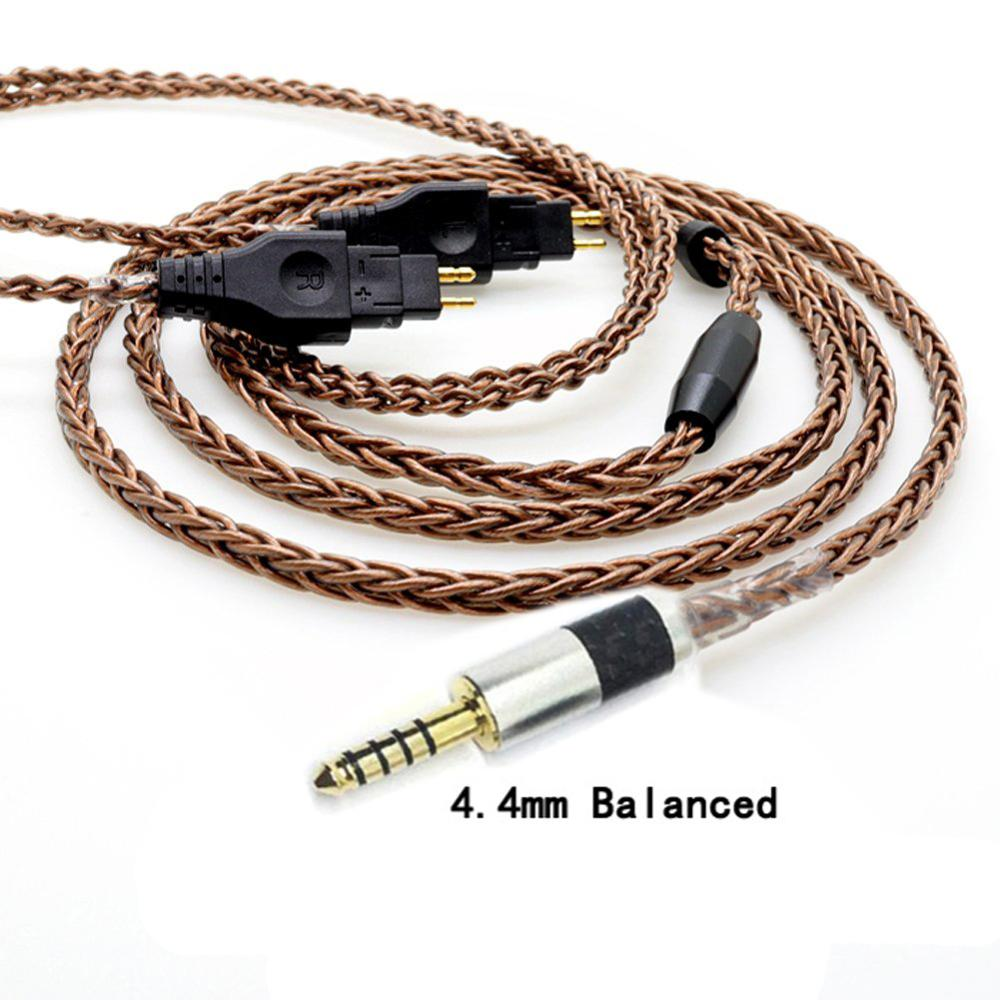 Thouliess  4.4 mm 2.5mm TRRS Balanced Male Upgrade Headphone Cable for HD650/HD565/HD580/HD600/HD660S/HD25 Headphones Bronze enlarge
