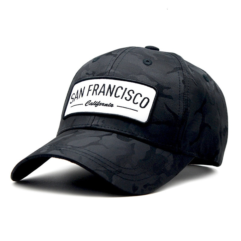 Gorra de béisbol para hombre, gorra de béisbol de poliéster seca y rápida con visera camuflada para hombre, gorra Snpabck de Hip Hop de 55-60cm