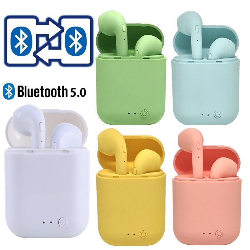 oksj mini bluetooths earphone earbuds wireless bluetooths tws in ear earbuds with charging case v5 0 bluetooth earphones headset Mini TWS Wireless Earphones Bluetooth 5.0 Earphone Matte Earbuds Headset Wireless Headphones for xiaomi iphone Charging Box