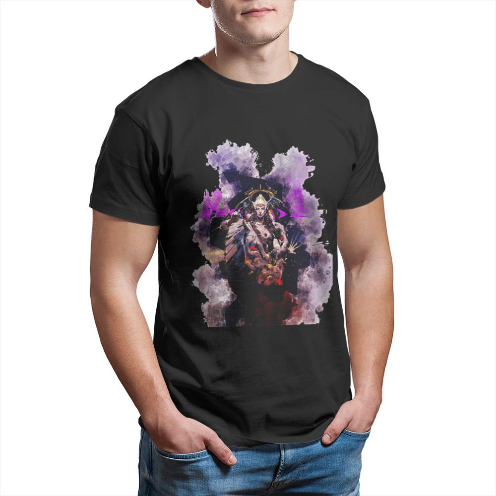Mannen Tops Hades Roguelike Action Role-Playing Game T-shirt Chaos Aquarel Puur Katoen Tees Harajuku Tshirt