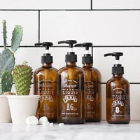 brown glass bath shampoo bottle scandinavian press pump liquid conditioner storage bottle travel lotion soap organizer bottle