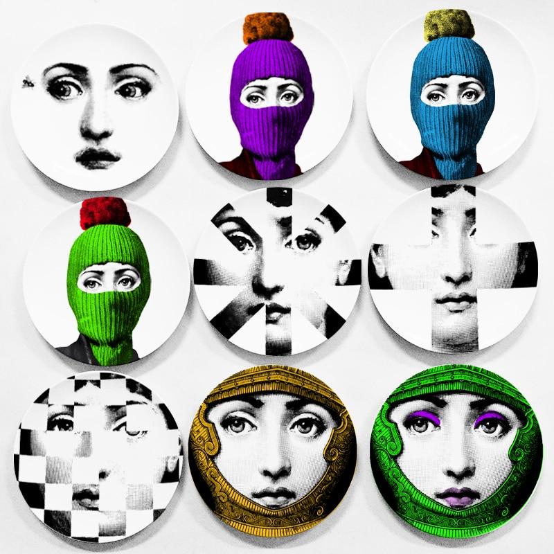 "Placa decorativa de cerámica para decoración de pared 6 ""7"" 8 ""de moda italiana Lina Cavalieri placa decorativa para pared"