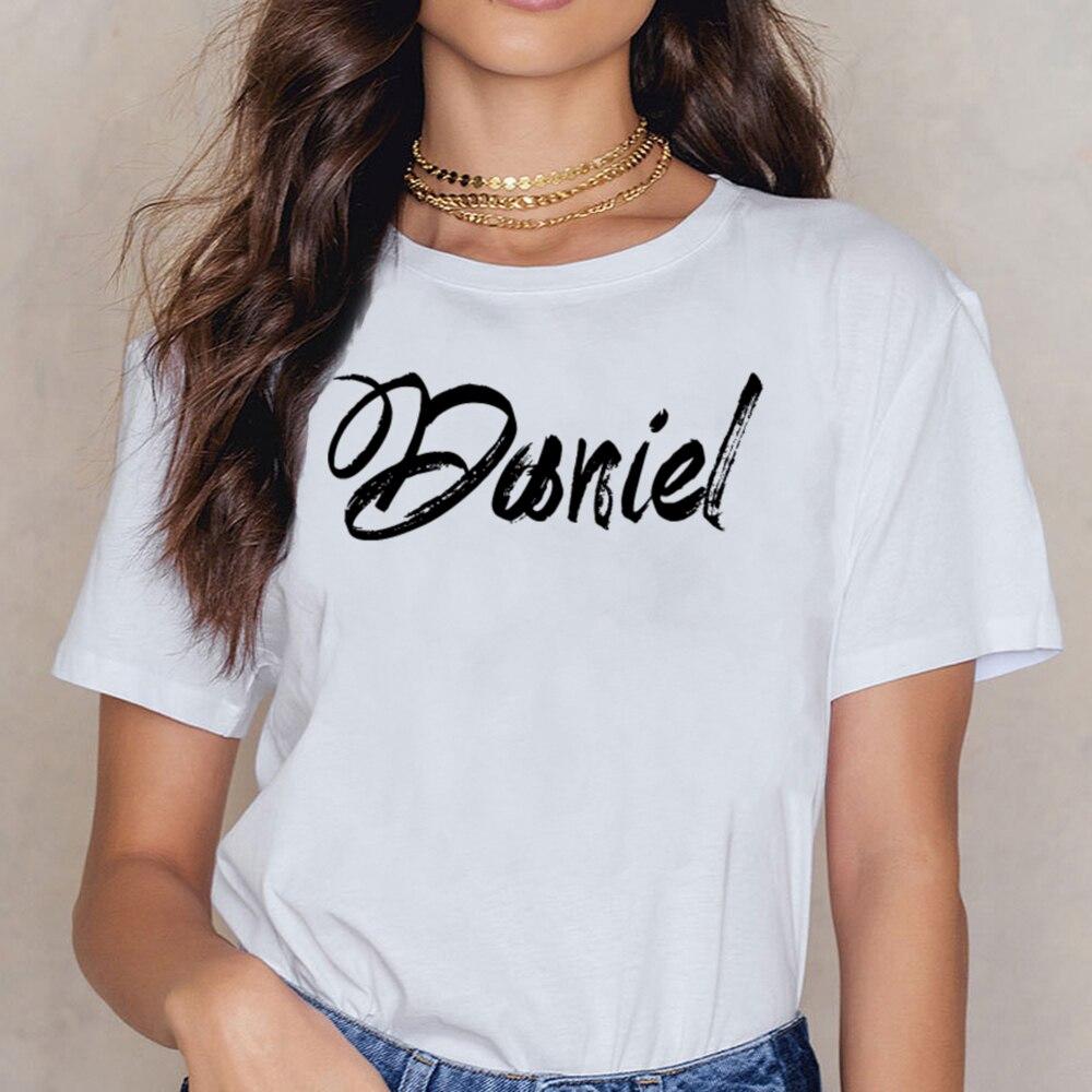 トップス tシャツ女性ダニエルアート醸造レディースヴォーグヴィンテージショート女性シャツ