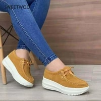 womens vulcanized shoes flock ladies sewing flat platform lace up casual autumn female plus size 2021 fashion new comfort