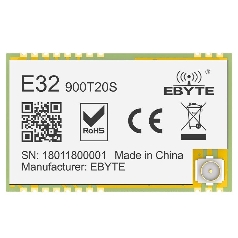 10PCS SX1276 UART LoRa Wireless Module 868/915MHz E32-900T20S Long Communication Range 20dBm 5.5Km Transparent Transmission IoT