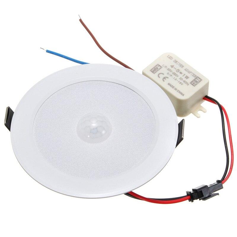 Светодиодный потолочный светильник, 5 Вт, с датчиком движения, 5730 SMD 10, поддержка AC85-265V, Прямая поставка