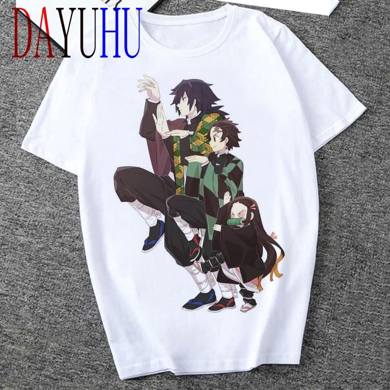 2020 unisex Demon Slayer camiseta gráfica hombres Streetwear Anime japonés Cool camiseta divertida dibujos animados Kimetsu No Yaiba camiseta