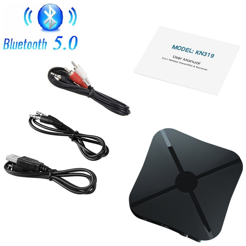 Bluetooth 5.0 Receiver And Transmitter Audio Music Stereo Wireless Adapter Rca 3.5Mm Aux Jack For Sp