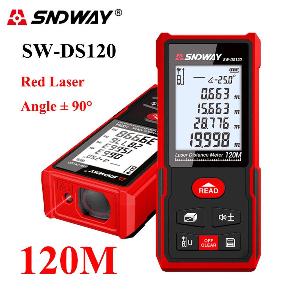 Medidor eletrônico do laser da régua de trena do medidor de distância do laser do medidor de distância do laser de sndway medidor de alcance digital 40-120 m
