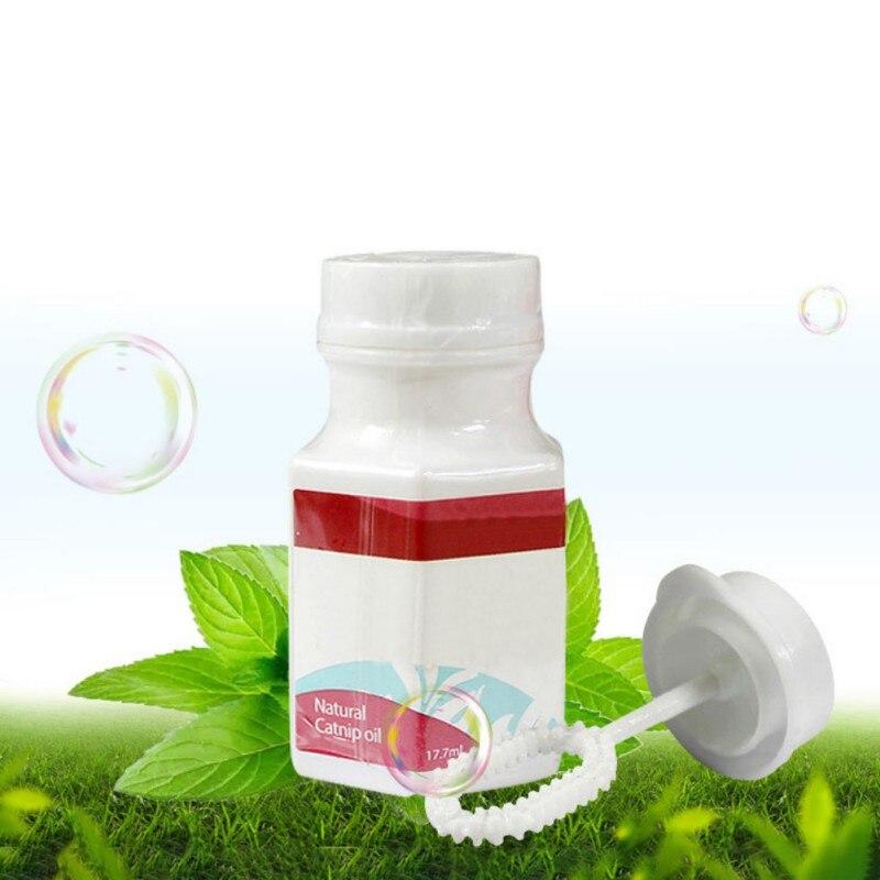 ¡17,7 ml! Hierba gatera natural en aerosol, sabor mentolado, hacer que el gatito Excite, burbujas interactivas de hierba gatera, juguetes de burbujas, lanzador para gatos 1