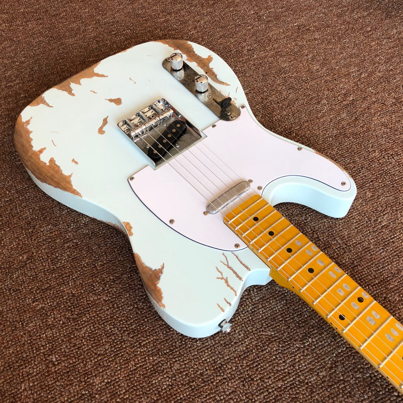 Custom shop.left hand electric guitar.maple fingerboard gitaar, handwork 6 Strings guitarra. enlarge