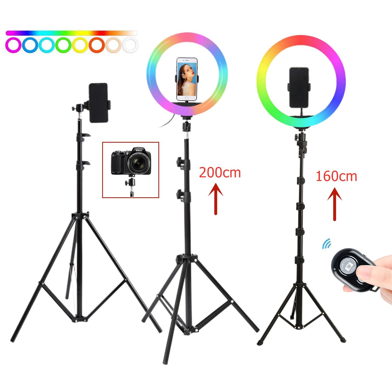 26 см 10 дюймов селфи кольцо светильник с подставкой фотостудия кольцевые лампы для телефона TikTok Youtube Макияж Видео Vlog
