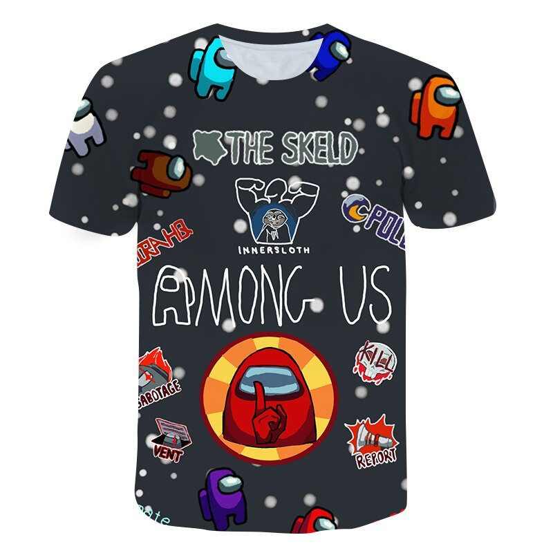 AliExpress - 2021 new 3D Game Beeteen Us Printed boy child t shirt Short Sleeve Kids  Girls Casual Tops Tees Toddler Children Colorful 4-14