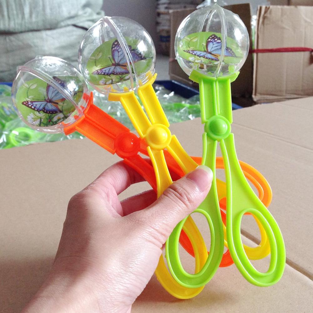 Böcek böcek Catcher makas maşa cımbız Scooper kelepçe çocuklar oyuncak temizleme aracı çocuk oyuncağı kullanışlı
