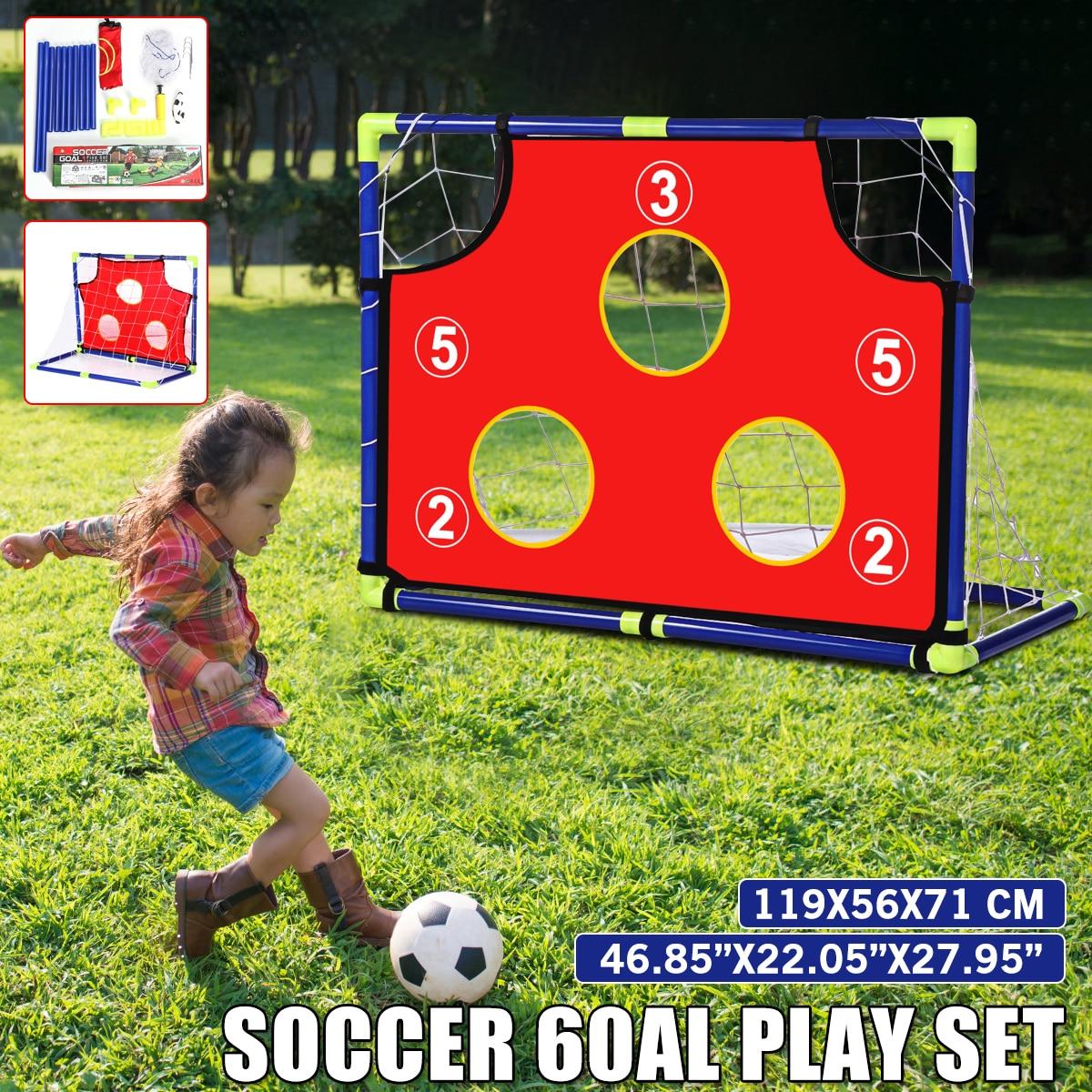 Soccer Goal for Children Net Foldable Outdoor Sports Toys Gift Football Goal Door Set for Backyard Indoor Toy Soccer Equipment