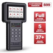 Thinkcar Thinkscan S99 DIY автомобиля OBD2 полный Системы читатель кода масло сканера/стоп сигнал/SAS/ETS/DPF Сброс диагностических инструментов