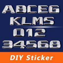 Car Accessories Number Letter DIY Sticker Emblem Badge For Mercedes Benz W169 W176 W203 W211 W220 W245 W251 A200 GLK300 CLS350