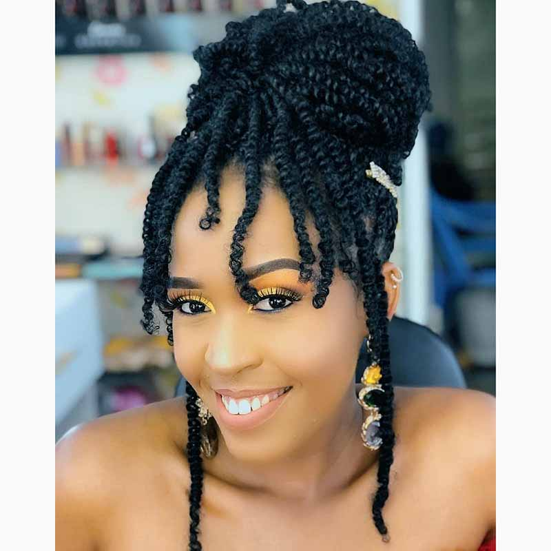12Inch Ombre Crochet Braids Synthetic Braiding Hair Brown Burgundy 160g Fluffy Spring Twist Hair Extensions for Black Women onxy 8inch fluffy spring twist crochet hair extensions synthetic crochet braids black brown ombre braiding hair 110g