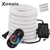 Гибкая неоновая светодиодная RGB лента, вывеска, лампа для ночного освесветильник 2835, 5050, 120 светодиодный с s/m, Bluetooth с дистанционным управлени...