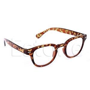 Ретро круглая рамка застывшие очки для чтения очки с леопардовым принтом черный + 1 + 4