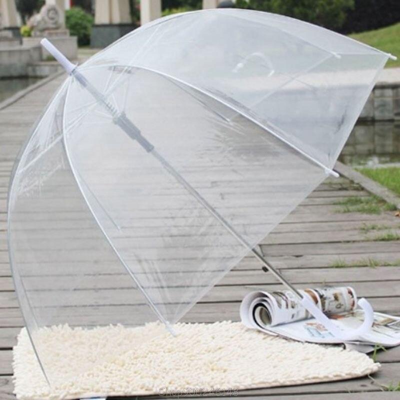 Moda transparente claro bolha cúpula forma guarda-chuva guarda-chuvas à prova de vento ao ar livre princesa capina decoração s17 20 dropshipping