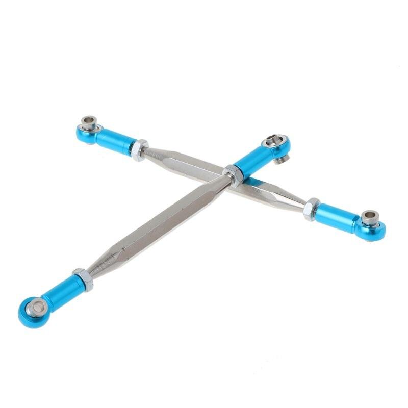 9PCS Adjustable Metal Linkage Pull Rod Servo Link For WLtoys 12428 12423 1/12 Speed RC Car Feiyue FY-01/02/03/04/05 Upgrade Part enlarge