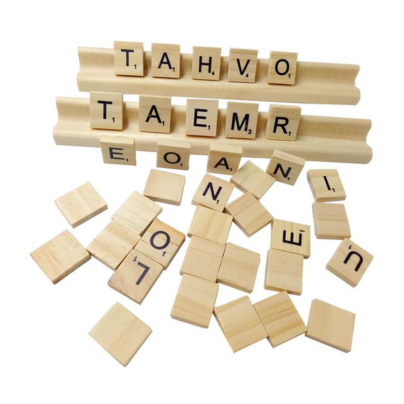 102 Uds., alfabeto de madera, creativo, educativo, divertido, letra, letras, juguete, azulejos de tenis para bebé Infante recién nacido