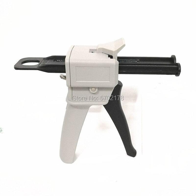 Dos componentes AB sellador epoxi 50ml pistola de pegamento aplicador adhesivo de pegamento apretar mixto 11 21 pistola de calafateo Manual dispensador de