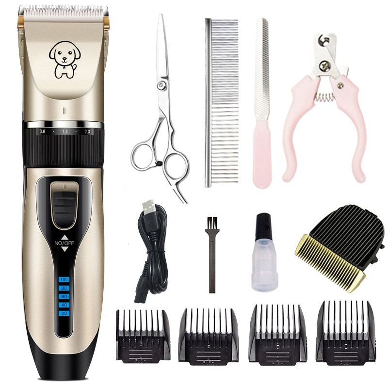 Rechargeable Pet Dog Hair Trimmer Professional Cat Animal Hair Clipper Low Noise Remover Grooming Sh