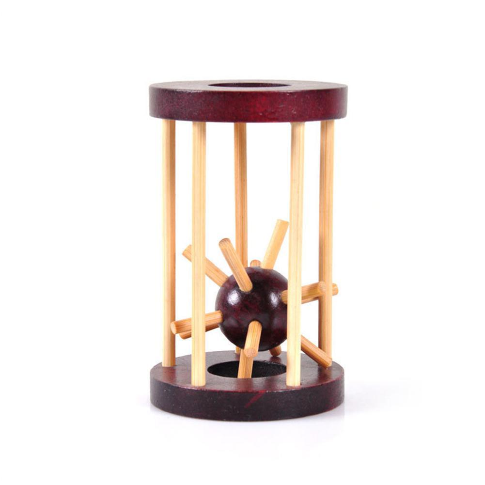 Mini rompecabezas de madera de Kuulee juguete de desbloqueo agarre erizo de mar en la jaula laberinto cerebro Teaser regalo intelectual juguetes interesantes