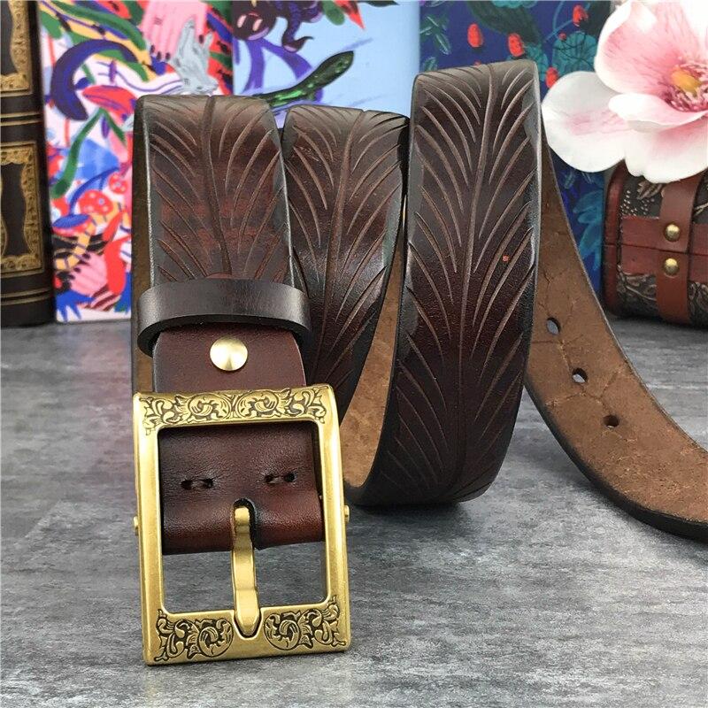 أحزمة جلدية عالية الجودة بدون أبازيم الرجال حزام Ceinture أوم رجالي أحزمة جلدية بدون أبازيم 105-125 سنتيمتر SP05
