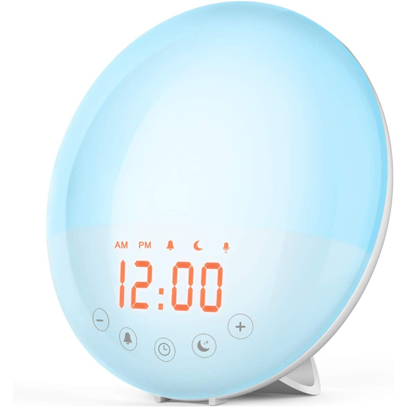 ins hot creative silicone alarm clock wake up chicken night light silicone bedside lamp kids room night light free shipping USB charging FM Radio Dual Alarm Clock colorful Atmosphere Lantern Wake-up Light Home Bedroom bedside night light Clock